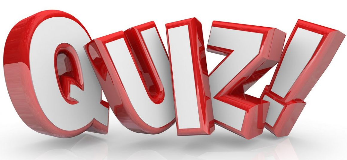 Bank Holiday  Weekend Quiz – Courtesy of James Hoult