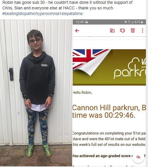 Sub 30 parkrun for Robin