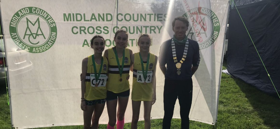 Sun Shines on U15 Girls winning Bronze Team @ Midlands X-C Relays